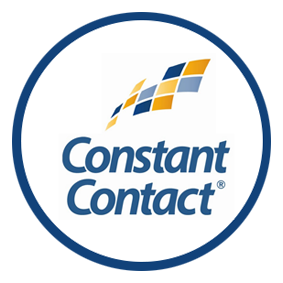 Constant Contact round blue