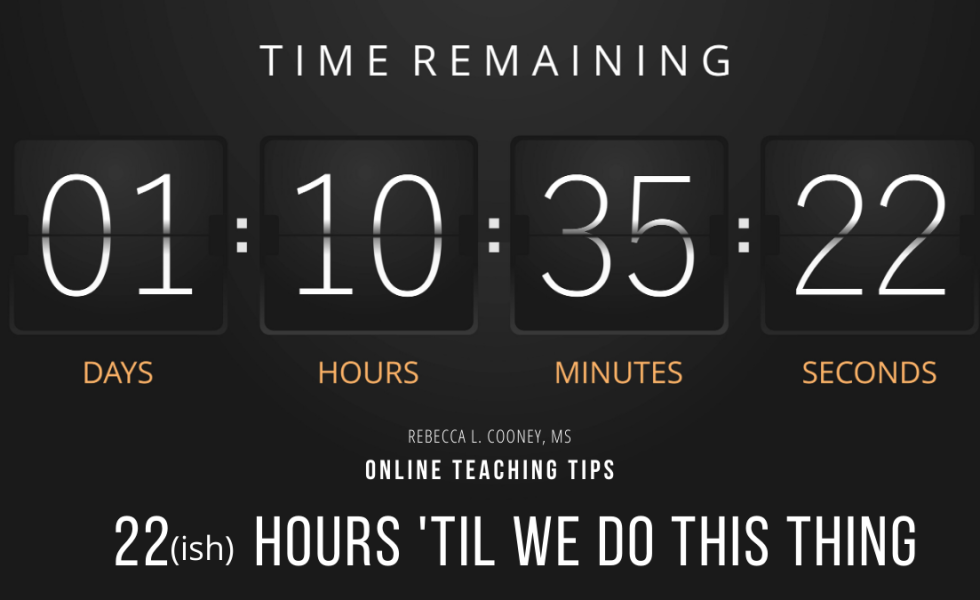 Online Teaching Tips- 22 hours