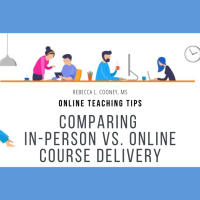 Breaking it down: In-person vs. online course delivery [infographic]