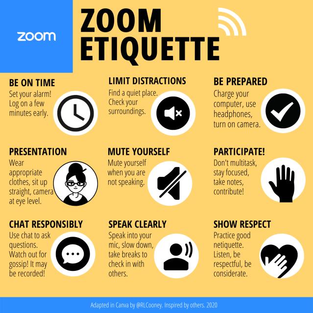 Zoom etiquette infographic